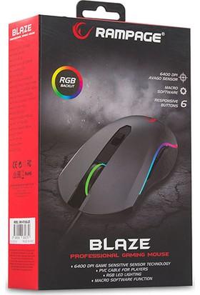 Rampage SMX-R70 Blaze USB RGB Macrolu Oyuncu Mouse