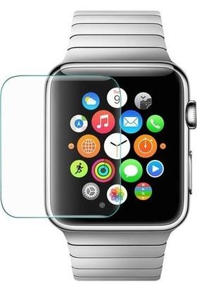 Lopard Apple Watch Seri 1/2/3/4/5 42 mm Ekran Koruyucu Blue Nano Temperli Cam Şeffaf