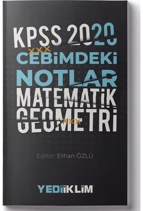 Yediiklim Yayınları 2020 KPSS Cebimdeki Notlar Matematik-Geometri