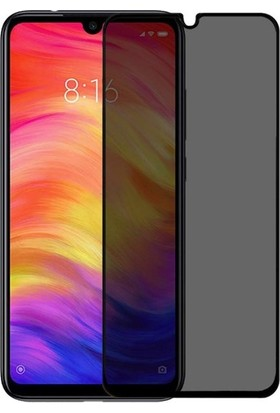 Ehr. Xiaomi Redmi Note 7 5D Gizlilik Filtreli Hayalet Cam - Siyah