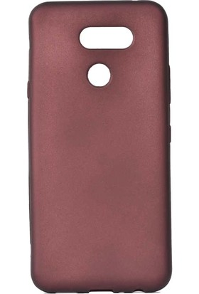 Tbkcase LG K50S Kılıf Premier Lüks Silikon Bordo