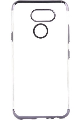Tbkcase LG K50S Kılıf Lüks Lazer Silikon Siyah