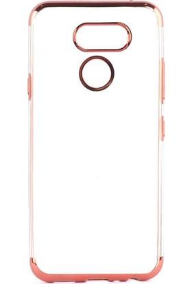 Tbkcase LG K50S Kılıf Lüks Lazer Silikon Kırmızı + Nano Ekran Koruyucu