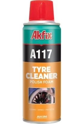 Akfix A117 Oto Lastik Parlatma Temizleme Spreyi 6'lı