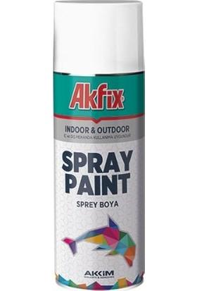 Akfix Sprey Boya 400 ml Parlak Beyaz 6'lı