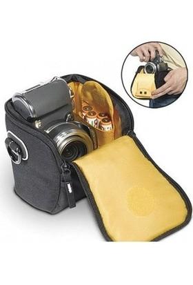 Kata Üçgen Çanta Dl-10- Zoom Objektifli Kompakt Için Black