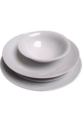 Güral Porselen Alfa 01 Model 6 Kişilik 24 Parça Porselen Yemek Takımı