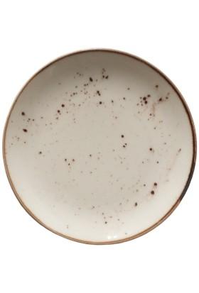 Tulu Porselen 6 Adet 19 cm Reaktif 46 Krem Model Pasta Tabağı Takımı