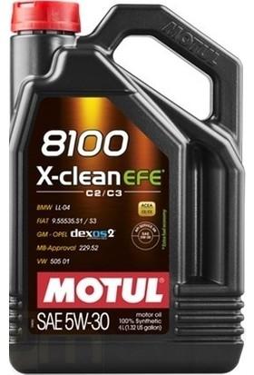 Motul 8100 X-Clean Efe 5W30 4 Litre Motor Yağı ( Üretim Yılı : 2020 )