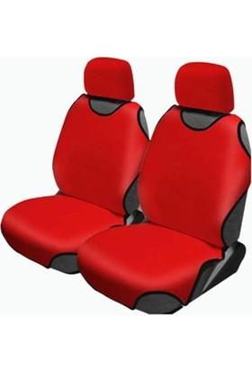 Otozum Renault Clio 4 Ön Atlet Kılıf Oto Koltuk Kılıfı Atlet Model Kırmızı