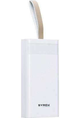 Syrox PB-115 30.000 Taşınabilir Şarj Aleti - Beyaz