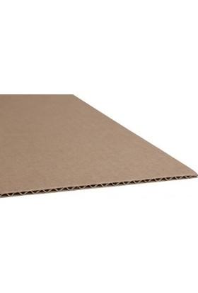 Kraft 70x100cm 3mm Oluklu Mukavva Karton 12'li Paket Ödev Kartonu - Proje Kartonu