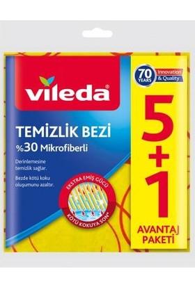 Vileda Sarı Temizlik Bezi 5 +1 2 Paket