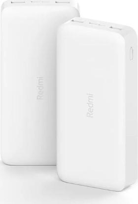 Xiaomi Redmi 20000 Mah Taşınabilir Hızlı Şarj Cihazı - USB-C - 18W 2 Çıkışlı Powerbank - Beyaz