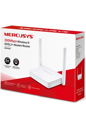 Mercusys MW300D 300Mbps Wireless N ADSL2+ Modem Router