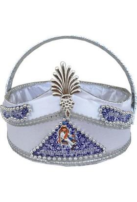 Dünya Keçe Gümüş Lacivert Süslemeli Sünnet Sepeti