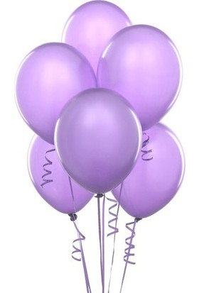 Datapos Metalik Açık Violet Lila Balon 30 Adet