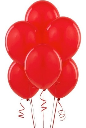 Datapos Metalik Kırmızı Balon 25 Adet