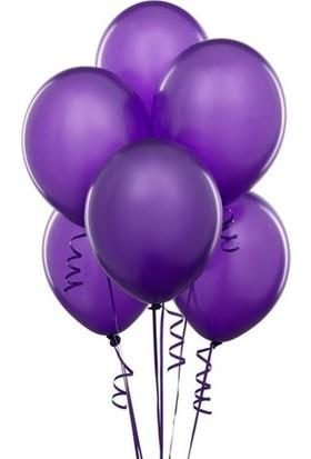 Datapos Metalik Mor Balon 15 Adet