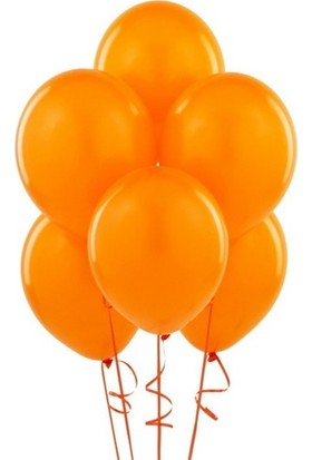 Datapos Metalik Turuncu Balon 10 Adet