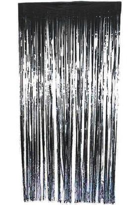 Datapos Metalize Kapı Perdesi Banner Siyah 100X220