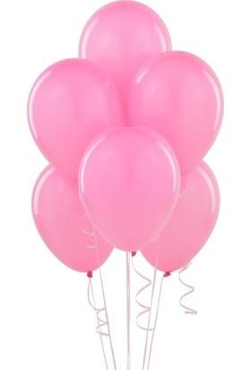 Datapos Metalik Pembe Balon 10 Adet