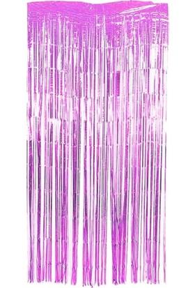 Datapos Metalize Kapı Perdesi Banner Pembe 100X220