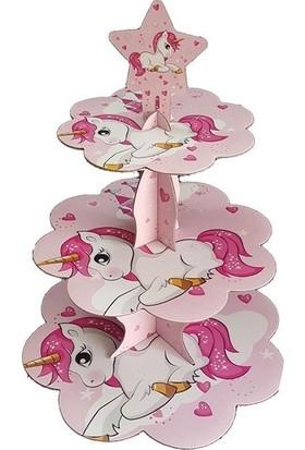 Datapos Unicorn Cupcake Kek Standı