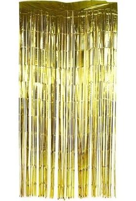 Datapos Metalize Kapı Perdesi Banner Gold 100X220