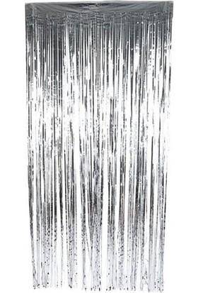 Datapos Metalize Kapı Perdesi Banner Gümüş 100X220
