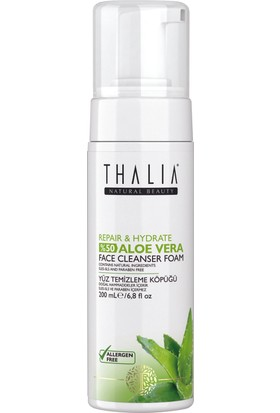 Thalia %50 Aloe Vera Expert Care Repair & Hydrate Yüz Temizleme Köpüğü - 200 ml