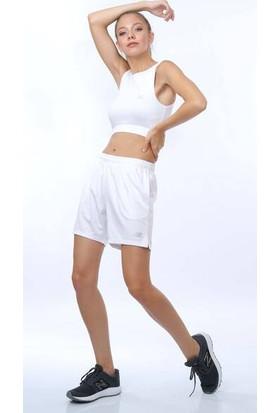 New Balance Nb Teamwear Kadın Beyaz Şort Nbtm006-Wt