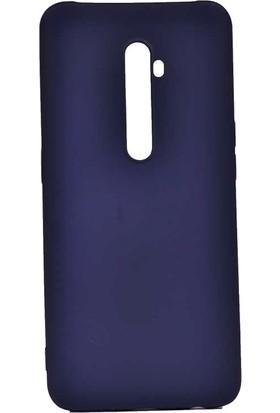 Tbkcase Oppo Reno 2Z Kılıf Lüks Mat Silikon Lacivert