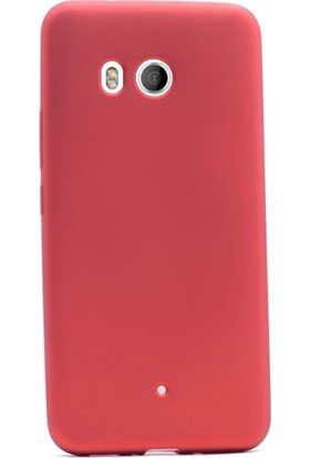 Case Street HTC U11 Kılıf Premier Silikon Kılıf Mat Kılıf + Nano + Kalem Ekran Koruyucu Pembe