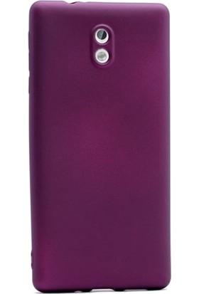Case Street Nokia 3 Kılıf Premier Silikon Kılıf + Nano + Kalem Koruyucu Mor