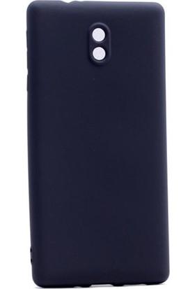 Case Street Nokia 3 Kılıf Premier Silikon Kılıf + Nano + Kalem Koruyucu Siyah
