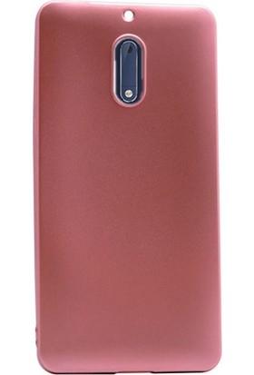 Case Street Nokia 6 Kılıf Premier Silikon Kılıf + Nano + Kalem Koruyucu Bronz