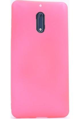 Case Street Nokia 6 Kılıf Premier Silikon Kılıf + Nano + Kalem Koruyucu Pembe