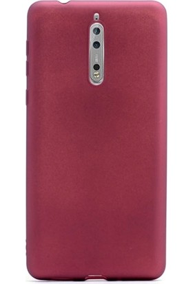Case Street Nokia 8 Kılıf Premier Silikon Kılıf + Nano + Kalem Koruyucu Bronz