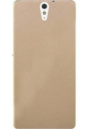 Case Street Sony Xperia C5 Ultra Kılıf Premier Silikon Kılıf + Nano + Kalem Koruyucu Gold