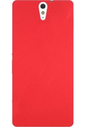 Case Street Sony Xperia C5 Ultra Kılıf Premier Silikon Kılıf + Nano + Kalem Koruyucu Kırmızı