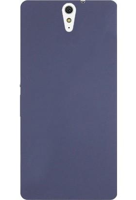 Case Street Sony Xperia C5 Ultra Kılıf Premier Silikon Kılıf + Nano + Kalem Koruyucu Lacivert