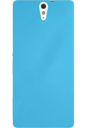 Case Street Sony Xperia C5 Ultra Kılıf Premier Silikon Kılıf + Nano + Kalem Koruyucu Mavi