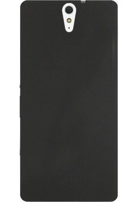 Case Street Sony Xperia C5 Ultra Kılıf Premier Silikon Kılıf + Nano + Kalem Koruyucu Siyah