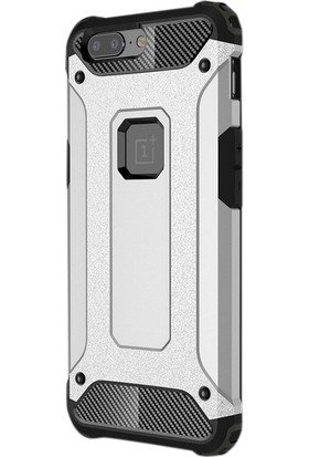 Case Street One Plus 5 Kılıf Crash Zırh Koruma + Nano + Kalem Gümüş
