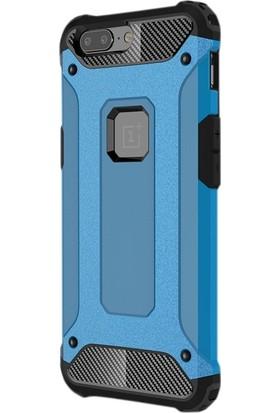 Case Street One Plus 5 Kılıf Crash Zırh Koruma + Nano + Kalem Mavi