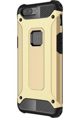 Case Street One Plus 5T Kılıf Crash Zırh Koruma + Nano + Kalem Gold