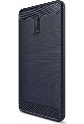 Case Street Nokia 6 Kılıf Room Silikon Kılıf + Nano + KalemLacivert