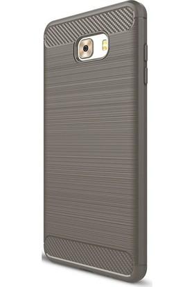 Case Street Samsung Galaxy C9 Pro Kılıf Room Silikon Kılıf + Nano + Kalem Bej