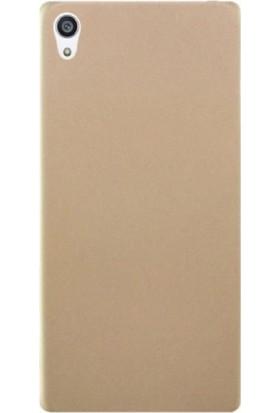 Case Street Sony Xperia Z5 Premium Kılıf Premier Silikon Kılıf + Nano + Kalem Gold